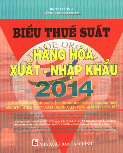 sách sách biểu thuế suất hàng hóa xnk 2014 nhà xuất bản tài chính mới nhất